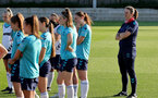 SOUTHAMPTON, ENGLAND - AUGUST 10: Southampton players (L) and Marieanne Spacey-Cale(R) during Southampton women's pre season training session at Staplewood Training Ground on August 10, 2021 in Southampton, England. (Photo by Isabelle Field/Southampton FC via Getty Images)