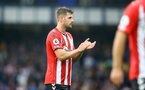 LIVERPOOL, ENGLAND - AUGUST 14: Jack Stephens of Southampton during the Premier League match between Everton  and  Southampton at Goodison Park on August 14, 2021 in Liverpool, England. (Photo by Matt Watson/Southampton FC via Getty Images)