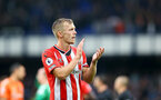 LIVERPOOL, ENGLAND - AUGUST 14: James Ward-Prowse of Southampton during the Premier League match between Everton  and  Southampton at Goodison Park on August 14, 2021 in Liverpool, England. (Photo by Matt Watson/Southampton FC via Getty Images)