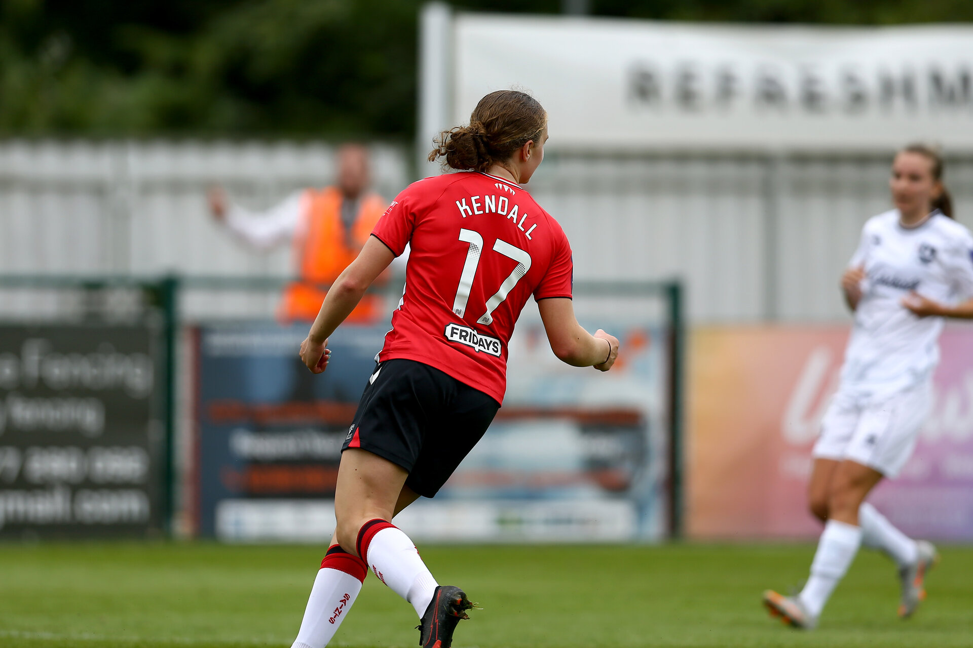 SOUTHAMPTON, ENGLAND - AUGUST 15:  during the FA Women's National League Southern Premier match between Southampton Women's and MK Dons Ladies at Snow's Stadium on August 15, 2021 in Southampton, England. (Photo by Isabelle Field/Southampton FC via Getty Images)