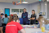 Spacey-Cale visits girls on PL Changemakers programme