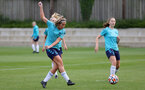 SOUTHAMPTON, ENGLAND - AUGUST 17: Ciara Watling(L) during Southampton Women's training session at  Staplewood Training Ground on August 17, 2021 in Southampton, England. (Photo by Isabelle Field/Southampton FC via Getty Images)