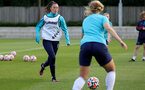 SOUTHAMPTON, ENGLAND - AUGUST 17: Laura Rafferty(L) during Southampton Women's training session at  Staplewood Training Ground on August 17, 2021 in Southampton, England. (Photo by Isabelle Field/Southampton FC via Getty Images)