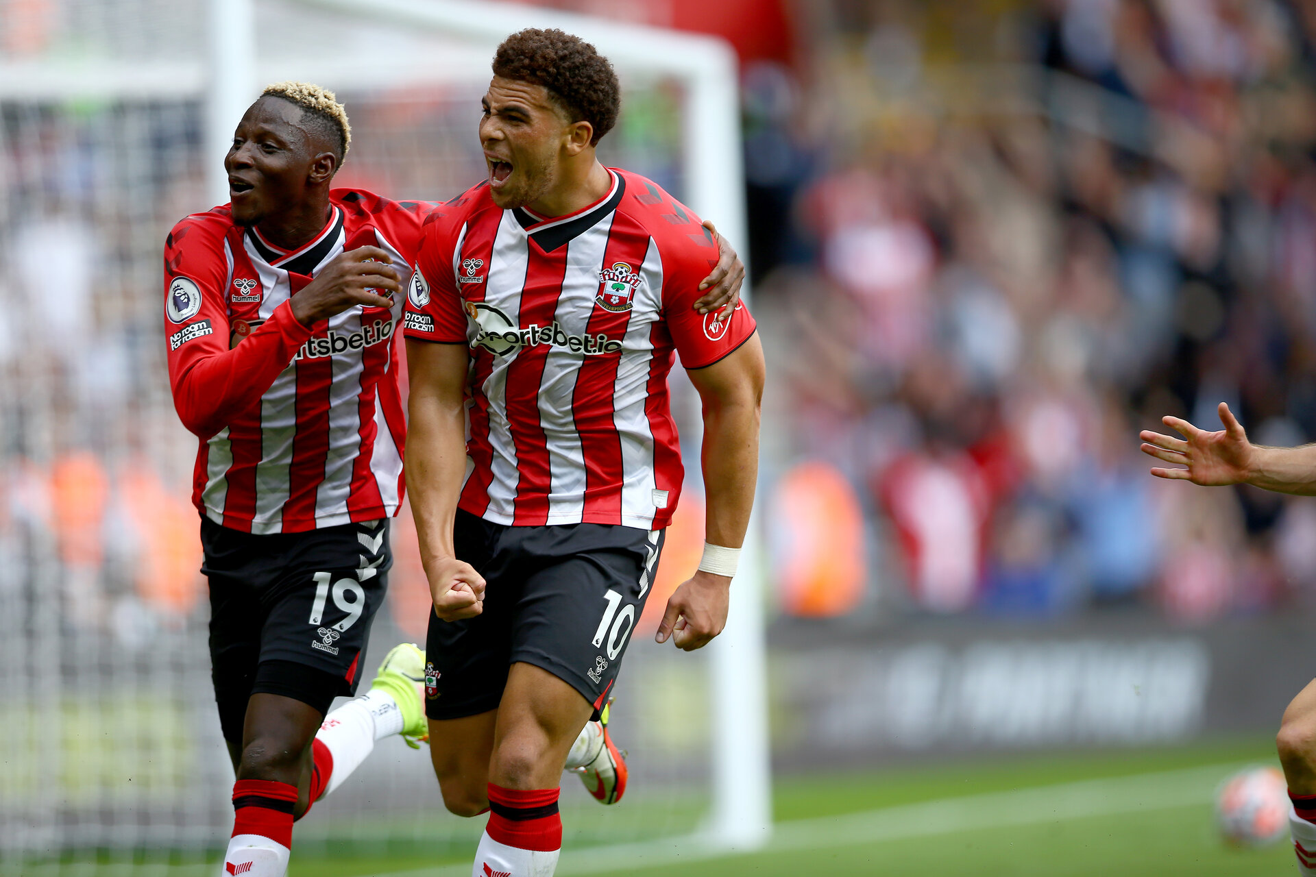 SOUTHAMPTON, ENGLAND - AUGUST 22: during the Premier League match between Southampton  and  Manchester United at St Mary's Stadium on August 22, 2021 in Southampton, England. (Photo by Isabelle Field/Southampton FC via Getty Images)