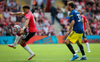 SOUTHAMPTON, ENGLAND - AUGUST 22: Che Adams during the Premier League match between Southampton and Manchester United at St Mary's Stadium on August 22, 2021 in Southampton, England. (Photo by Chris Moorhouse/Southampton FC via Getty Images)