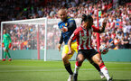 SOUTHAMPTON, ENGLAND - AUGUST 22: Theo Walcott during the Premier League match between Southampton and Manchester United at St Mary's Stadium on August 22, 2021 in Southampton, England. (Photo by Chris Moorhouse/Southampton FC via Getty Images)