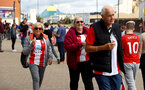 SOUTHAMPTON, ENGLAND - AUGUST 22: Saints fans ahead of the Premier League match between Southampton  and  Manchester United at St Mary's Stadium on August 22, 2021 in Southampton, England. (Photo by Matt Watson/Southampton FC via Getty Images)
