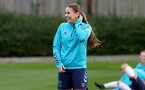 SOUTHAMPTON, ENGLAND - AUGUST 31: Georgie Freeland during Southampton Women's training session at  Staplewood Training Ground on August 31, 2021 in Southampton, England. (Photo by Isabelle Field/Southampton FC via Getty Images)