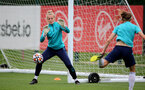 SOUTHAMPTON, ENGLAND - AUGUST 31: Kayla Rendell(L) during Southampton Women's training session at  Staplewood Training Ground on August 31, 2021 in Southampton, England. (Photo by Isabelle Field/Southampton FC via Getty Images)