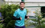 SOUTHAMPTON, ENGLAND - SEPTEMBER 01: Lyanco Vojnovic during Southampton training session at Staplewood Complex on September 01, 2021 in Southampton, England. (Photo by Isabelle Field/Southampton FC via Getty Images)