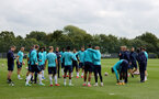 SOUTHAMPTON, ENGLAND - SEPTEMBER 01: Southampton players during Southampton training session at Staplewood Complex on September 01, 2021 in Southampton, England. (Photo by Isabelle Field/Southampton FC via Getty Images)