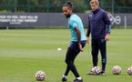 SOUTHAMPTON, ENGLAND - SEPTEMBER 01: Theo Walcott during Southampton training session at Staplewood Complex on September 01, 2021 in Southampton, England. (Photo by Isabelle Field/Southampton FC via Getty Images)