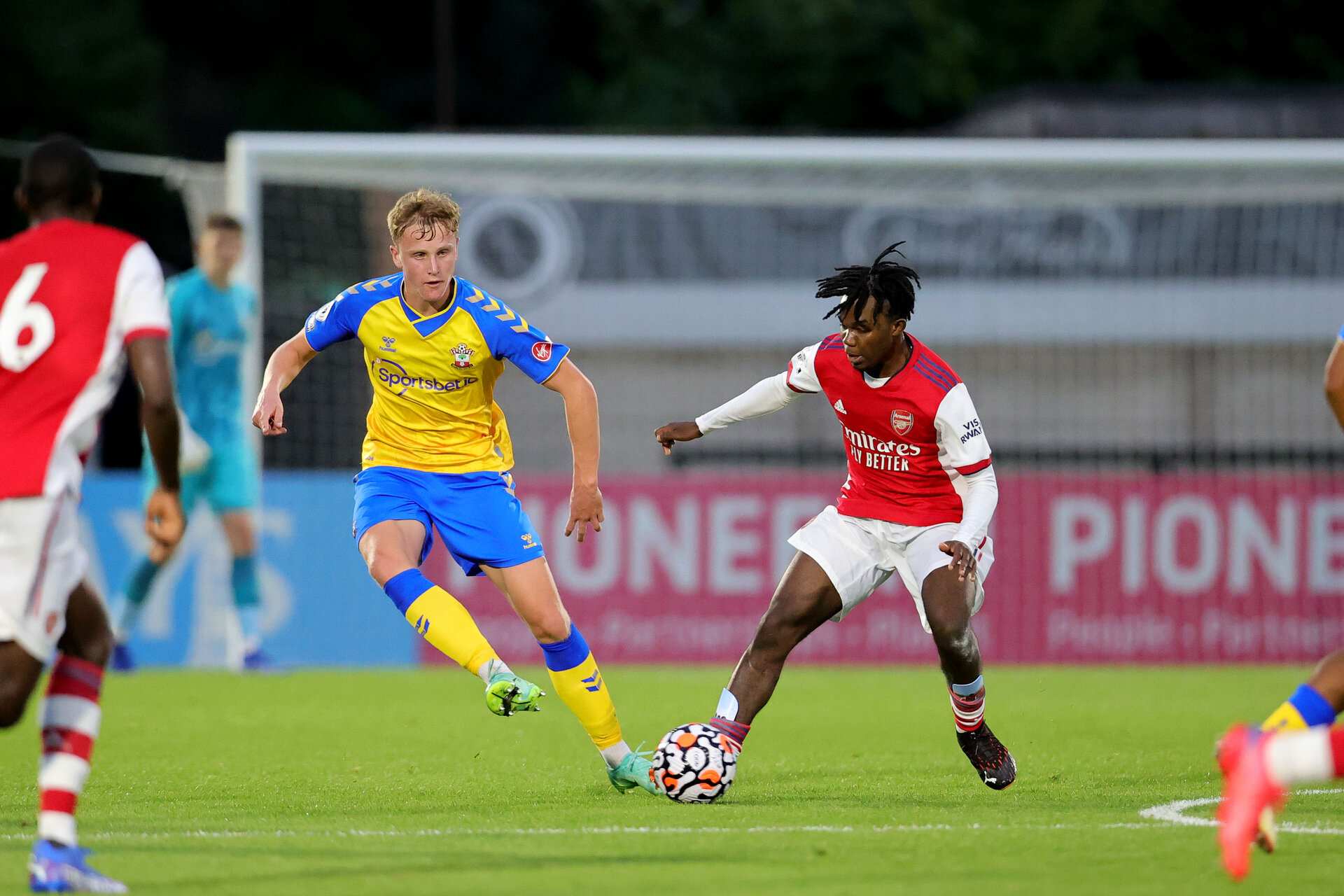 BOREHAMWOOD, ENGLAND - SEPTEMBER 02:  during the Premier League Cup match between Arsenal and Southampton B Team at Meadow Park on September 02, 2021 in Borehamwood, England. (Photo by Isabelle Field/Southampton FC )
