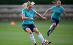 SOUTHAMPTON, ENGLAND - SEPTEMBER 08: Kelly Snook during Southampton Women's training at Staplewood Training Ground on September 08, 2021 in Southampton, England. (Photo by Isabelle Field/Southampton FC via Getty Images)