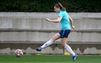 SOUTHAMPTON, ENGLAND - SEPTEMBER 08: Ella Morris during Southampton Women's training at Staplewood Training Ground on September 08, 2021 in Southampton, England. (Photo by Isabelle Field/Southampton FC via Getty Images)