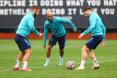 Gallery: Warming up for West Ham