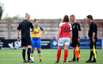 CHELTENHAM, ENGLAND - SEPTEMBER 12: Shannon Sievwright of Southampton during the Women's FA National League Cup match between  Cheltenham Town and  Southampton Women at The Corinium Stadium on September 12, 2021 in  Cheltenham, England. (Photo by Isabelle Field/Southampton FC via Getty Images)