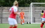 CHELTENHAM, ENGLAND - SEPTEMBER 12: Sara Luce of Southampton during the Women's FA National League Cup match between  Cheltenham Town and  Southampton Women at The Corinium Stadium on September 12, 2021 in  Cheltenham, England. (Photo by Isabelle Field/Southampton FC via Getty Images)