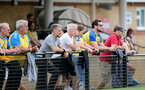 CHELTENHAM, ENGLAND - SEPTEMBER 12: Southampton fans during the Women's FA National League Cup match between  Cheltenham Town and  Southampton Women at The Corinium Stadium on September 12, 2021 in  Cheltenham, England. (Photo by Isabelle Field/Southampton FC via Getty Images)
