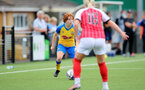 CHELTENHAM, ENGLAND - SEPTEMBER 12: Molly Mott(L) of Southampton during the Women's FA National League Cup match between  Cheltenham Town and  Southampton Women at The Corinium Stadium on September 12, 2021 in  Cheltenham, England. (Photo by Isabelle Field/Southampton FC via Getty Images)