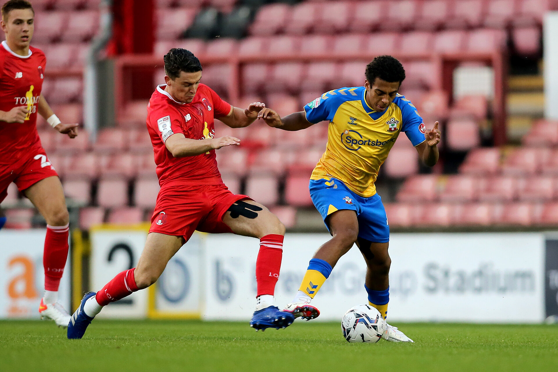 LONDON, ENGLAND - SEPTEMBER 14:  during the Papa John's Trophy match between Leyton Orient and Southampton B Team at Breyer Group Stadium on September 14, 2021 in London, England. (Photo by Isabelle Field/Southampton FC via Getty Images)
