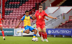 LONDON, ENGLAND - SEPTEMBER 14: Caleb Watts(L) of Southampton during the Papa John's Trophy match between Leyton Orient and Southampton B Team at Breyer Group Stadium on September 14, 2021 in London, England. (Photo by Isabelle Field/Southampton FC via Getty Images)