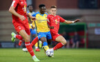 LONDON, ENGLAND - SEPTEMBER 14: Kazeem Olaigbe of Southampton during the Papa John's Trophy match between Leyton Orient and Southampton B Team at Breyer Group Stadium on September 14, 2021 in London, England. (Photo by Isabelle Field/Southampton FC via Getty Images)