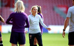SOUTHAMPTON, ENGLAND - SEPTEMBER 16: Hege Riise during England Women's training session at St Mary's Stadium on September 16, 2021 in Southampton, England. (Photo by Isabelle Field/Southampton FC via Getty Images)