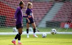 SOUTHAMPTON, ENGLAND - SEPTEMBER 16: Nikita Parris during England Women's training session at St Mary's Stadium on September 16, 2021 in Southampton, England. (Photo by Isabelle Field/Southampton FC via Getty Images)