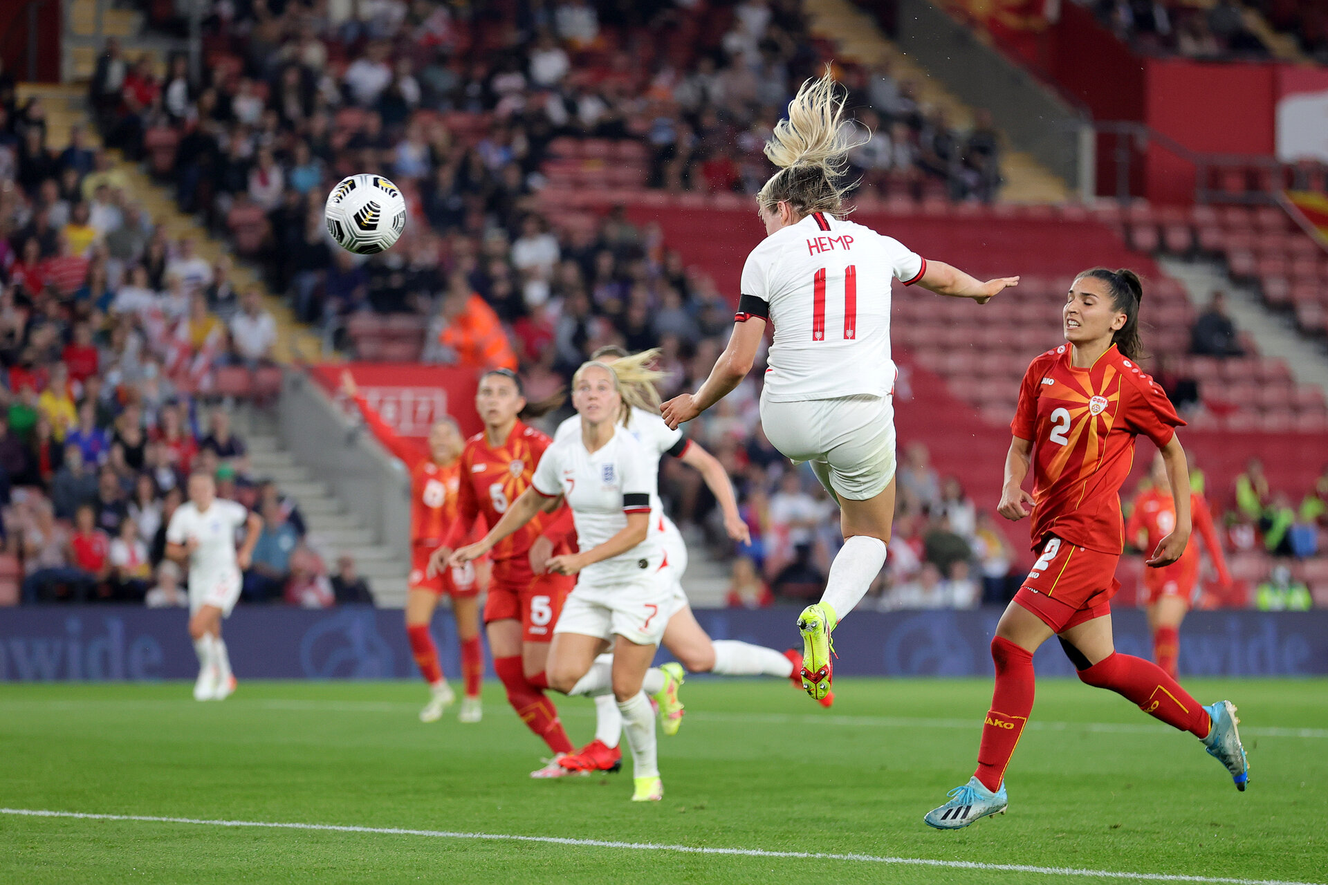 SOUTHAMPTON, ENGLAND - SEPTEMBER 17: during  at St Mary's Stadium on September 17, 2021 in Southampton, England. (Photo by Isabelle Field/Southampton FC via Getty Images)