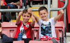 SOUTHAMPTON, ENGLAND - SEPTEMBER 19: Southampton Fans during the Premier League 2 match between Southampton B Team and Burnley at St Mary's Stadium on September 19, 2021 in Southampton, England. (Photo by Isabelle Field/Southampton FC via Getty Images)