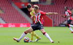 SOUTHAMPTON, ENGLAND - SEPTEMBER 19: Dominic Ballard(R) of Southampton during the Premier League 2 match between Southampton B Team and Burnley at St Mary's Stadium on September 19, 2021 in Southampton, England. (Photo by Isabelle Field/Southampton FC via Getty Images)