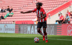 SOUTHAMPTON, ENGLAND - SEPTEMBER 19: Kegs Chauke of Southampton during the Premier League 2 match between Southampton B Team and Burnley at St Mary's Stadium on September 19, 2021 in Southampton, England. (Photo by Isabelle Field/Southampton FC via Getty Images)