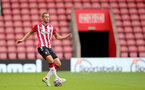SOUTHAMPTON, ENGLAND - SEPTEMBER 19: Olly Lancashire of Southampton during the Premier League 2 match between Southampton B Team and Burnley at St Mary's Stadium on September 19, 2021 in Southampton, England. (Photo by Isabelle Field/Southampton FC via Getty Images)