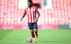 SOUTHAMPTON, ENGLAND - SEPTEMBER 19: Thierry Small of Southampton during the Premier League 2 match between Southampton B Team and Burnley at St Mary's Stadium on September 19, 2021 in Southampton, England. (Photo by Isabelle Field/Southampton FC via Getty Images)