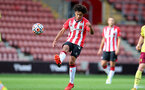 SOUTHAMPTON, ENGLAND - SEPTEMBER 19: Kamari Doyle of Southampton during the Premier League 2 match between Southampton B Team and Burnley at St Mary's Stadium on September 19, 2021 in Southampton, England. (Photo by Isabelle Field/Southampton FC via Getty Images)