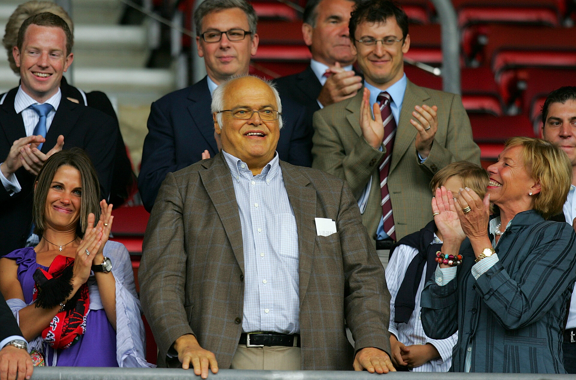 SOUTHAMPTON, ENGLAND - JULY 18: New owner of the Southampton Club Markus Liebherr looks on prior to the Pre Season Friendly match between Southampton and Ajax at St Mary's Stadium on July 18, 2009 in Southampton, England. (Photo by Tom Dulat/Getty Images)