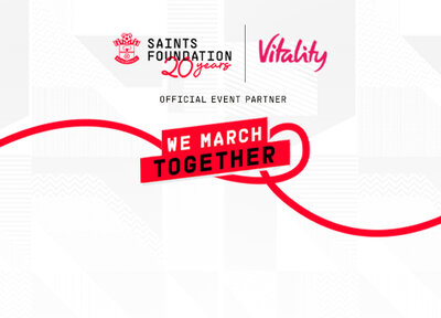 Fans take part in Saints Foundation's We March Together