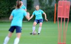 SOUTHAMPTON, ENGLAND - SEPTEMBER 22: Kirsty Whitton during Southampton Women's training at Staplewood Training Ground on September 22, 2021 in Southampton, England. (Photo by Isabelle Field/Southampton FC via Getty Images)