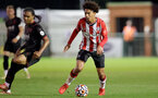 SOUTHAMPTON, ENGLAND - SEPTEMBER 23: Kamari Doyle(R) of Southampton during the Premier League Cup match between Southampton B Team and West Bromwich Albion at Snows Stadium on September 23, 2021 in Southampton, England. (Photo by Isabelle Field/Southampton FC via Getty Images)
