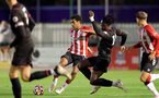 SOUTHAMPTON, ENGLAND - SEPTEMBER 23: Caleb Watts(L) of Southampton during the Premier League Cup match between Southampton B Team and West Bromwich Albion at Snows Stadium on September 23, 2021 in Southampton, England. (Photo by Isabelle Field/Southampton FC via Getty Images)