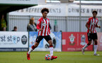 SOUTHAMPTON, ENGLAND - SEPTEMBER 23: Kamari Doyle of Southampton during the Premier League Cup match between Southampton B Team and West Bromwich Albion at Snows Stadium on September 23, 2021 in Southampton, England. (Photo by Isabelle Field/Southampton FC via Getty Images)