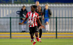 SOUTHAMPTON, ENGLAND - SEPTEMBER 23: Kegs Chauke of Southampton during the Premier League Cup match between Southampton B Team and West Bromwich Albion at Snows Stadium on September 23, 2021 in Southampton, England. (Photo by Isabelle Field/Southampton FC via Getty Images)