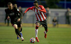 SOUTHAMPTON, ENGLAND - SEPTEMBER 23: Remello Mitchell(R) of Southampton during the Premier League Cup match between Southampton B Team and West Bromwich Albion at Snows Stadium on September 23, 2021 in Southampton, England. (Photo by Isabelle Field/Southampton FC via Getty Images)