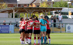 CHELTENHAM, ENGLAND - SEPTEMBER 26: Southampton players during the FA National League Southern Premier match between   Southampton Women and London Bees at The Snows Stadium on September 26, 2021 in  Cheltenham, England. (Photo by Isabelle Field/Southampton FC via Getty Images)