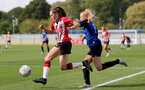 CHELTENHAM, ENGLAND - SEPTEMBER 26: Alisha Ware(L) of Southampton during the FA National League Southern Premier match between   Southampton Women and London Bees at The Snows Stadium on September 26, 2021 in  Cheltenham, England. (Photo by Isabelle Field/Southampton FC via Getty Images)