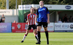 CHELTENHAM, ENGLAND - SEPTEMBER 26: Sophia Pharoah of Southampton goal celebration during the FA National League Southern Premier match between   Southampton Women and London Bees at The Snows Stadium on September 26, 2021 in  Cheltenham, England. (Photo by Isabelle Field/Southampton FC via Getty Images)
