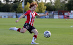 CHELTENHAM, ENGLAND - SEPTEMBER 26: Molly Mott of Southampton during the FA National League Southern Premier match between   Southampton Women and London Bees at The Snows Stadium on September 26, 2021 in  Cheltenham, England. (Photo by Isabelle Field/Southampton FC via Getty Images)