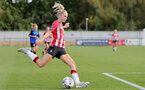 CHELTENHAM, ENGLAND - SEPTEMBER 26: Phoebe Williams of Southampton during the FA National League Southern Premier match between   Southampton Women and London Bees at The Snows Stadium on September 26, 2021 in  Cheltenham, England. (Photo by Isabelle Field/Southampton FC via Getty Images)