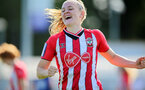 CHELTENHAM, ENGLAND - SEPTEMBER 26: Ella Pusey of Southampton goal celebration during the FA National League Southern Premier match between   Southampton Women and London Bees at The Snows Stadium on September 26, 2021 in  Cheltenham, England. (Photo by Isabelle Field/Southampton FC via Getty Images)